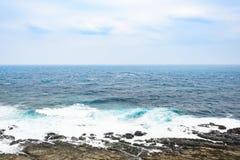 Mening van bergen en aard op de oostkust van Taiwan Royalty-vrije Stock Afbeelding
