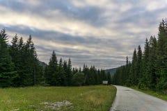 Mening van Bergen Slowakije van een sleep de Westelijke Tatra Stock Foto