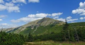 Mening van bergen Snezka. Royalty-vrije Stock Afbeeldingen