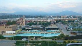 Mening van bergen in Thessaloniki Royalty-vrije Stock Afbeeldingen