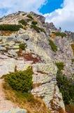 Mening van bergen van Solisko in Hoge Tatras, Slowakije Royalty-vrije Stock Fotografie