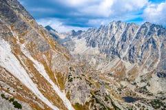 Mening van bergen van Solisko in Hoge Tatras, Slowakije Stock Foto