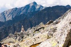 Mening van bergen van Solisko in Hoge Tatras, Slowakije Stock Foto's