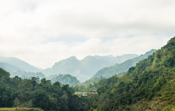 Mening van bergenlandschap Stock Fotografie