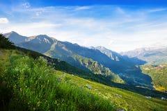 Mening van bergenlandschap Huesca Stock Afbeelding