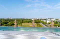 Mening van Berlijn met Platz der Republik van Duitse Bundestag stock afbeelding