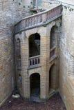 Mening van beroemd Hohenzollern-Kasteel, voorouderlijke zetel van imperi stock fotografie