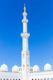 Mening van beroemd Sheikh Zayed Grand Mosque, de V.A.E Royalty-vrije Stock Foto