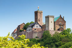 Mening van beroemd Wartburg - een plaats van de werelderfenis stock afbeelding
