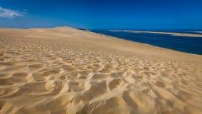 Mening van beroemde Dune du Pyla Royalty-vrije Stock Afbeeldingen
