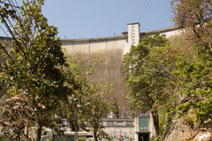 Mening van Bhumibol-Dam, Tak-provincie, Thailand Stock Afbeelding