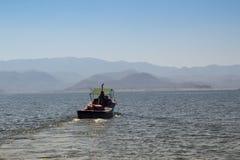Mening van Bhumibol-Dam, Tak-provincie, Thailand Stock Afbeeldingen