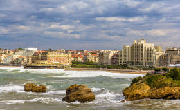 Mening van Biarritz - Frankrijk Royalty-vrije Stock Foto