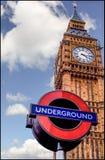 Big Ben ondergronds Stock Fotografie