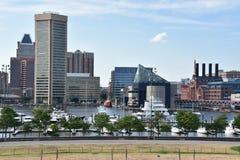 Mening van Binnenhaven in Baltimore, Maryland Stock Fotografie