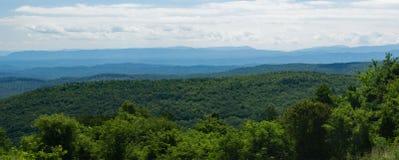 Mening van Blauw Ridge Mountains, Virginia, de V.S. stock foto's