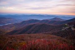 Mening van Blue Ridge Mountains Stock Foto's