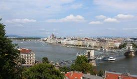 Mening van Boedapest stock foto's