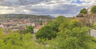 Mening van Boedapest met Buda Castle royalty-vrije stock foto's