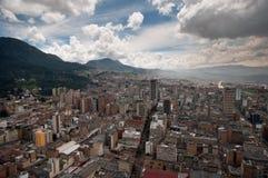 Mening van Bogota van de binnenstad in Colombia van hierboven Royalty-vrije Stock Foto