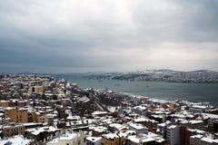 Mening van Bosphorus van Galata-Toren Stock Afbeelding