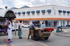 Mening van Bridgetown van de binnenstad, de hoofd en grootste stad in Barbados Stock Fotografie