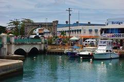 Mening van Bridgetown van de binnenstad, de hoofd en grootste stad in Barbados Stock Foto