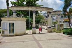 Mening van Bridgetown van de binnenstad, de hoofd en grootste stad in Barbados royalty-vrije stock foto's