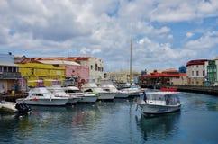 Mening van Bridgetown van de binnenstad, de hoofd en grootste stad in Barbados Royalty-vrije Stock Foto