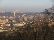 Mening van Brno op Åpilberk Stock Foto
