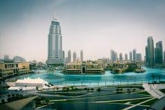 Mening van Burj Khalifa stock foto's