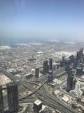 Mening van Burj Khalifa Dubai stock afbeeldingen