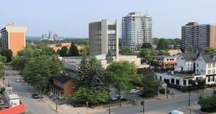 Mening van Burlington van de binnenstad, Canada 4K stock video