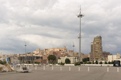 Mening van Cagliari Stock Afbeelding