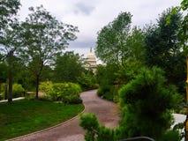 Mening van capitol van Verenigde Staten van de botanische tuinen in Wa stock foto