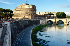 Mening van Castel Sant'Angelo Royalty-vrije Stock Fotografie