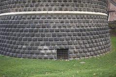 Mening van Castello Sforzesco royalty-vrije stock afbeelding