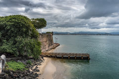 Mening van Castillo San Felipe del Morro Royalty-vrije Stock Fotografie
