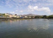 Mening van Castletownbere-waterkant Stock Fotografie