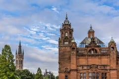 Mening van Centraal Glasgow in Schotland Stock Foto