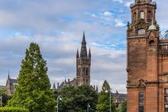 Mening van Centraal Glasgow in Schotland Royalty-vrije Stock Afbeelding