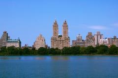 Mening van Centraal park bij zonnige de lentedag in New York stock fotografie