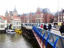 Mening van Centrale Post in Amsterdam, Holland, Nederland royalty-vrije stock fotografie