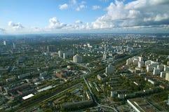 Mening van centrum van Moskou stock afbeeldingen