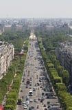 Mening van Champs Elysees in Parijs, Frankrijk Royalty-vrije Stock Fotografie