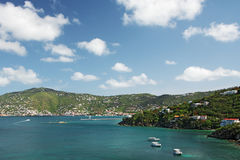 Mening van Charlotte Amalie, St. Thomas Royalty-vrije Stock Foto