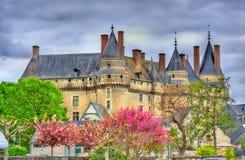 Mening van Chateau DE Langeais, een kasteel in de de Loire-Vallei, Frankrijk stock afbeeldingen
