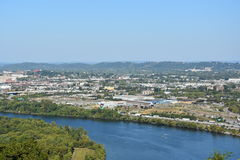 Mening van Chattanooga in Tennessee Stock Foto