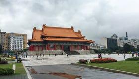 Mening van Chiang Kai-shek Memorial Hall in Taipeh, Taiwan Stock Afbeelding