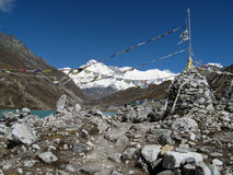 Mening van chooyu - Nepal Royalty-vrije Stock Foto's